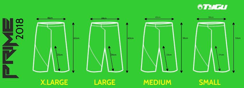 2017 PRIME shorts sizing