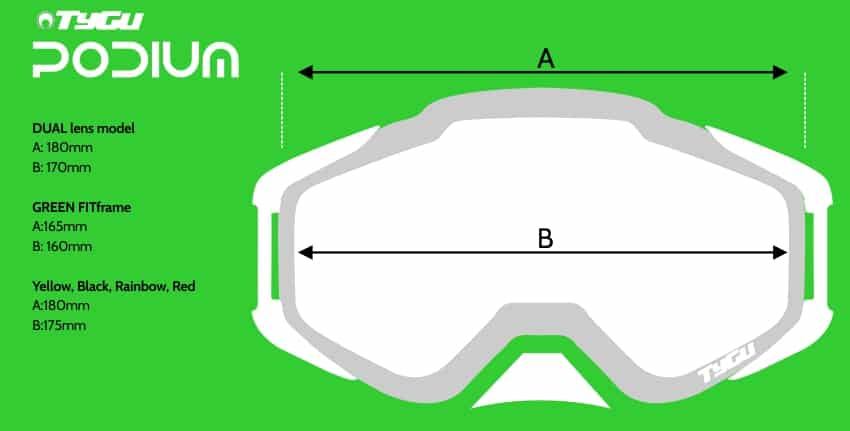 Goggles size
